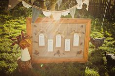 DIY Craft Project: How to create a rustic table plan {Featured on Love My Dress Blog}