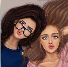 Filename by girly-m on deviantart картинки в 2019 г. Best Friends Cartoon, Friend Cartoon, Best Friend Drawings, Girly Drawings, Cute Girl Drawing, Cartoon Girl Drawing, Drawing Girls, Drawing Eyes, Drawing Hair