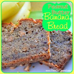 Peanut Butter Banana Bread   Mom On Timeout - So delicious and a great way to start your day! #breakfast #recipe