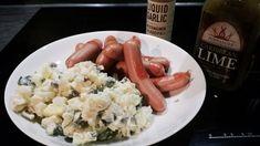Se hieman parempi perunasalaatti! #poppamies #savustus #grillaus #maustaminen #ruoka #ruuanlaitto #mauste #perunasalaatti #liquidgarlic #habanero Pasta Salad, Sausage, Lime, Meat, Ethnic Recipes, Food, Crab Pasta Salad, Limes, Sausages