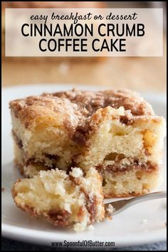 Needs to be translated from grams to normal measurements Here's a cinnamon crumb coffee cake recipe that you'll make again and again - a tender cake with cinnamon crumble topping. We love this for breakfast, snack, or dessert! Easy Cake Recipes, Baking Recipes, Dessert Recipes, Desserts, Easy Crumb Cake Recipe, Bisquick Coffee Cake Recipe, Bread Recipes, Coffee Recipes, Cinnamon Crumble