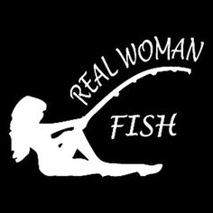Real Woman Fish Vinyl Decal StickerCars Trucks Walls LaptopWHITE55 InKCD370 * Read more  at the image link.Note:It is affiliate link to Amazon. #liker