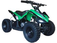 MotoTec Mini Quad is great for driveway and backyard fun, cruise over bumps and speed through dirt trails with ease. Has front & rear suspension, front & rear brakes, large 13 inch knobby pneumatic tires. Scooters, Quad, Kids Atv, Atv Riding, Pocket Bike, Atv Four Wheelers, Ride On Toys, Pedal Cars, Rc Cars