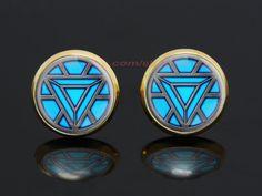Iron Man Arc Reactor gold plated stud post earrings,the avengers superhero earrings,girlfriend gift Bridesmaid Gift