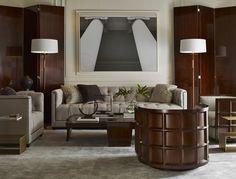 "furniture-meubles: "" Thomas Pheasant Collection by Baker Furniture. Park Avenue Poise. """