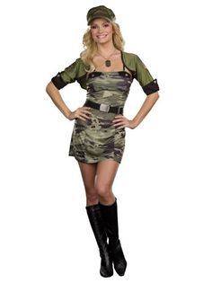 cffd2c5be74 Amazon.com  Sexy Military Soldier Army Costume 5 Piece camouflage Adult  Halloween Camo Sizes