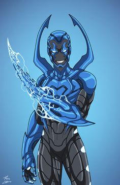 Silver Scarab (Earth-27) Blue Beetle color variant by phil-cho