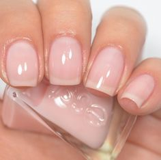 Essie - Fairy Tailor (Gel Couture Atelier Collection) A beautiful pale pink shade Essie Nail Polish, Nail Polish Colors, Sheer Nail Polish, Nail Polishes, Hair And Nails, My Nails, Neutral Nail Color, Neutral Gel Nails, Nude Nails