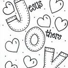 Jesus, Others, You! in that order...bring JOY!  A coloring sheet to remind us ALL of that.  by Bunky Business...