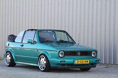 (porsche) on a cabrio Vw Golf Mk1, Vw Golf Cabrio, Vw Mk1, Volkswagen Golf, Golf 1 Cabriolet, Porsche, Audi, Volvo V60, Car Pictures