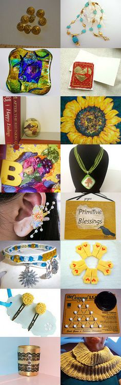 Golden goodies! by Daveda on Etsy--Pinned with TreasuryPin.com