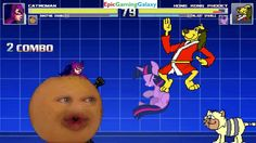 Annoying Orange & Catwoman VS Hong Kong Phooey & Twilight Sparkle In A MUGEN Match / Battle / Fight This video showcases Gameplay of Twilight Sparkle From The My Little Pony Friendship Is Magic Series And Hong Kong Phooey The Superhero VS Catwoman And The Annoying Orange In A MUGEN Match / Battle / Fight