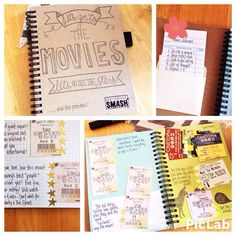 A way to save all those movie ticket stubs! Journal and Scrapbook in one!