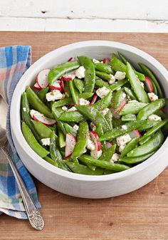 Simple Snap Pea Salad – What to do with fresh, delicious sugar snap peas? As little as possible! This simple salad showcases their delicate flavor beautifully.