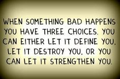 When something bad happens you have 3 choices. #loveyouboston find #strength in this tragedy.