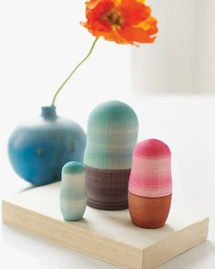 Modern Nesting Dolls - an easy DIY project made with Rit Dye by Sweet Paul!