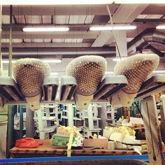 Details from #santaclaramilano #factory #blingbling #inprogress #velvetslipper #handmade #our #passion  www.santaclaramilano.com