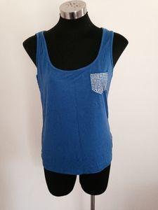 Blue Tank with diamonte pocket Pocket, Closet, Blue, Tops, Women, Fashion, Moda, Armoire, Fashion Styles