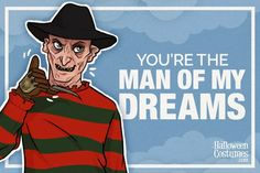 Freddy Krueger - Halloween-themed greeting cards to print and dish out