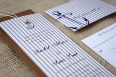Sample Anchor Nautical Wedding Invitation. via Etsy.