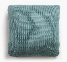 Chunky Knit Pillow- Teal