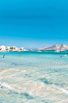 Clear blue waters in Greece.