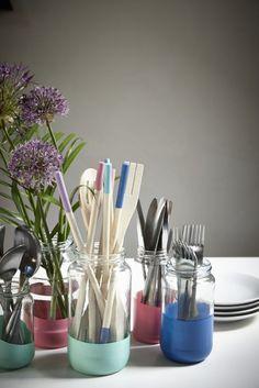 pots-de-confiture-décoratifs-peinture-acrylique-vases-rangements-couverts