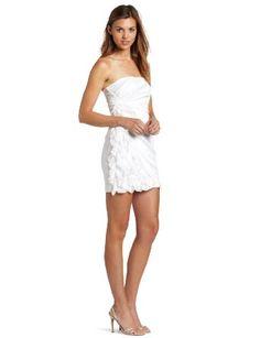 Teeze Me Juniors Strapless Ruffle Trim Dress