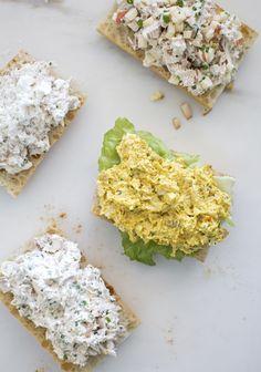 Customizable creamy chicken salad (for sandwiches) - Trois fois par jour Unique Recipes, Great Recipes, Snack Recipes, Favorite Recipes, Cold Meals, Wrap Sandwiches, Creamy Chicken, Chicken Salad, Healthy Cooking