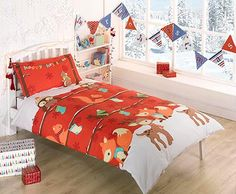 Woodland Christmas Red Duvet Set - Lovely bedding for children in the run-up to Christmas!