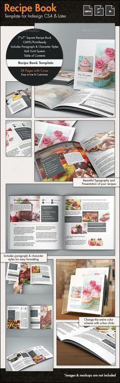 Recipe Book Template - 7x7in