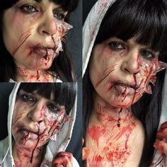 Day11 of my #31daysofhalloween #shatteredglass #accident #blood #sfx #sfxmakeup #scary  #halloween #halloweenmakeup #halloweenmakeupideas #amazing #beautiful  #facepainting #bodypainting #artist #bobbibicker #london
