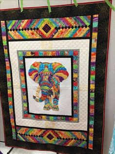 Elephant Quilt: Supplies Needed for Elephant Panel Quilt Baby, Colchas Quilt, Batik Quilts, Quilt Border, Panel Quilts, Scrappy Quilts, Applique Quilts, Quilt Blocks, Elephant Quilts Pattern