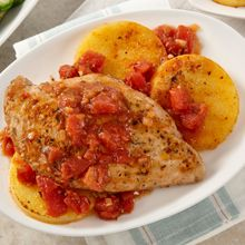 Rustic Italian chicken and polenta is a flavorful and sophisticated, gluten-free meal.
