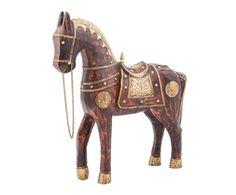 """Статуэтка """"Лошадь 15"""" - дерево - Д34хВ38   Westwing Интерьер & Дизайн Horses, Horse"""