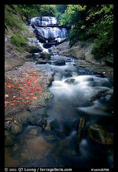 Sable Falls in autumn, Pictured Rocks National Lakeshore. Upper Michigan Peninsula, USA