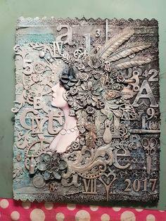 Amanda Mason part 6 Mixed Media Canvas, Mixed Media Art, Recycled Art, Art Journal Pages, Creative Art, Mini Albums, Canvas Frame, City Photo, Decoupage