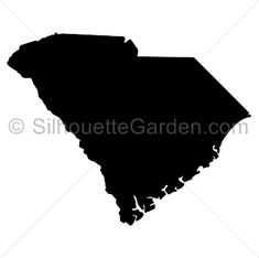 South Carolina silhouette clip art. Download free versions of the image in EPS, JPG, PDF, PNG, and SVG formats at http://silhouettegarden.com/download/south-carolina-silhouette/