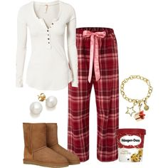 """""""Comfy Christmas Day Outfit"""" by natihasi on Polyvore"""