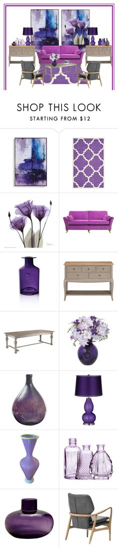 """#522"" by mussedechocolate on Polyvore featuring interior, interiors, interior design, home, home decor, interior decorating, Safavieh, Dartington Crystal, Dot & Bo and H&M"