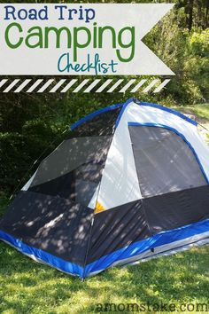 Road trip camping checklist - what you need to pack before you camp!