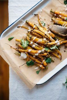 garlic-spiced market carrots w/ yogurt sauce | dolly and oatmeal