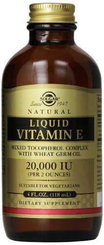 Solgar Liquid Vitamin E without Dropper, 4 Ounce * To view further for this item, visit the image link.