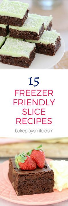 This collection of 15 freezer friendly slices are perfect for making ahead of time and storing in the freezer until needed. A great time saver! And check out my tips for the best ways to freeze slices… #freezer #slices #bars #recipes #best #easy #thermomix #conventional #traybakes