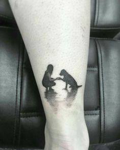 Not for me but what a beautiful tattoo! Mini Tattoos, Body Art Tattoos, Small Tattoos, Tattoos Of Dogs, Dog Paw Tattoos, Panda Tattoos, Fox Tattoos, Mommy Tattoos, Celtic Tattoos
