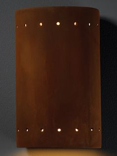Justice Design Ceramic Collection Wall Sconces - Indoor or Outdoor, Bisque or Glazed - Mosaic of Real Rocks - Brand Lighting