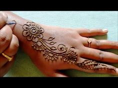 simple mehndi designs for hands step by step for beginners || mehndi des...