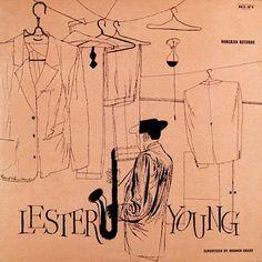 Lester Young...David Stone Martin Illustration.....