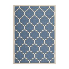 Isolotto Rug 4x5'7 Blue, $69, now featured on Fab.
