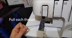 Never re-thread again! The best way to change serger threads. Serger Thread, Serger Sewing, Sewing Basics, Sewing Hacks, Sewing Tips, Solar System Crafts, Brother Embroidery Machine, School Fundraisers, Funny Art